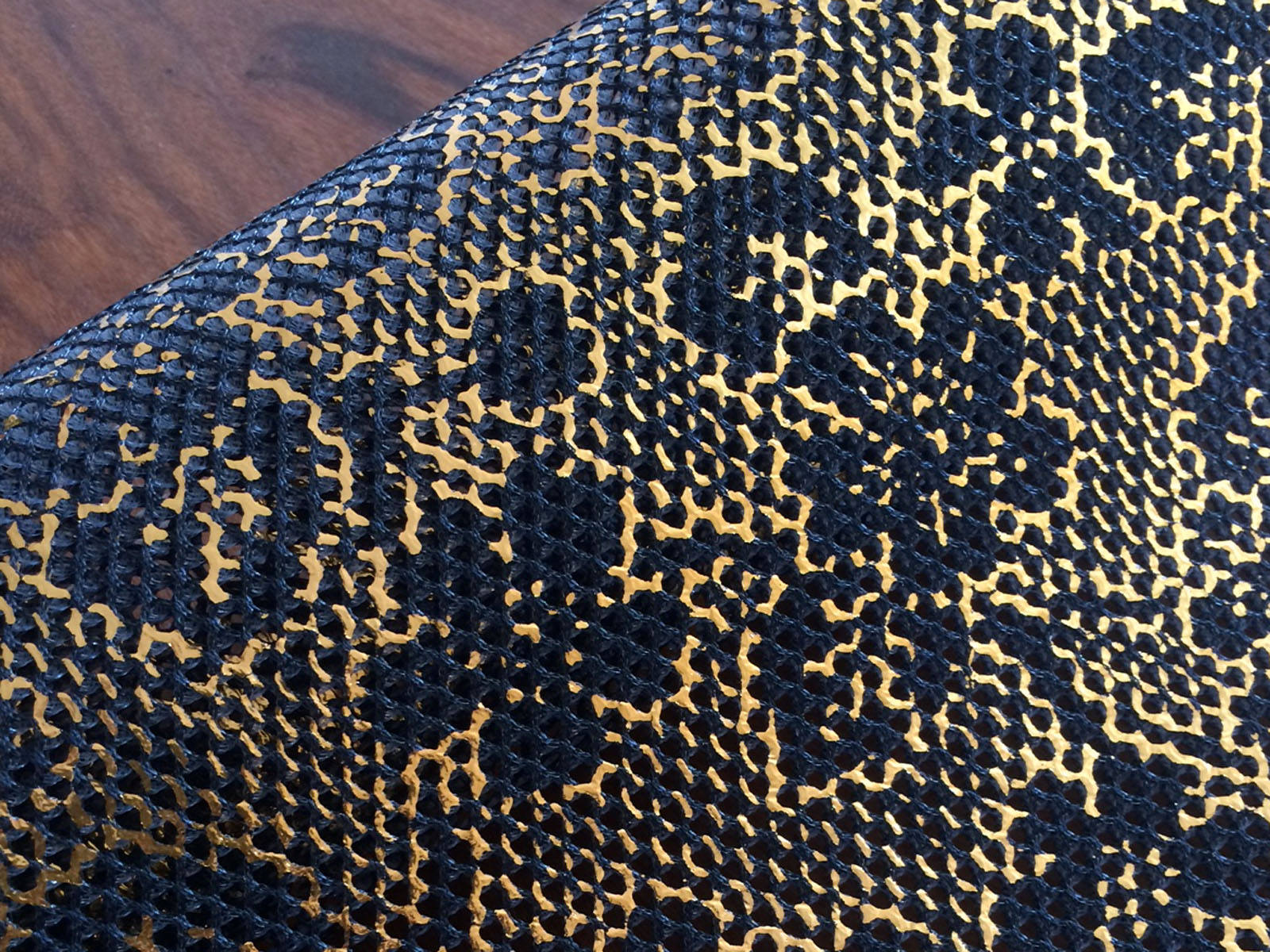 Metallics on technical knits